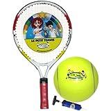Le Petit Tennis Racquet 17 pollici + pompa + Tennis Ball (Età 2-3-4)