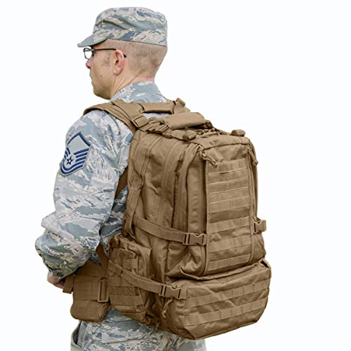 Explorer Tactical Backpack Large for Travel, Hiking, Hunting, Trekking, Camping, 3 Day Assault Pack Tactical Backpack Military or Bug Out Survival Bag