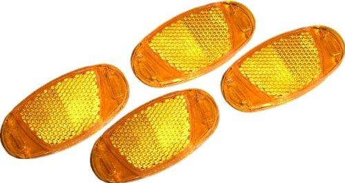 4 bruchsichere Reflektoren für Fahrradspeichen nach StVZO Richtlinien  Kraftfahrt Bundesamt geprüft