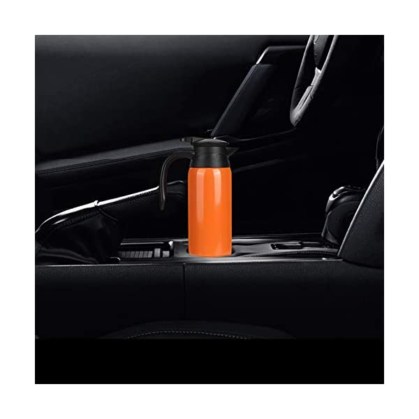Tbest Auto Kessel Heizungs Schale, 800ml Edelstahl auto elektrischer erhitzter Wasserkocher Flaschen Schale Tragbarer…