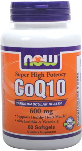 NOW Foods CoQ10 600 mg, 60 gélules