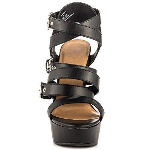 YCMDM Women's Sandals Stiletto Heel black high quality Nightclub Party Evening Office Career Fashion Shoes , 42 , black