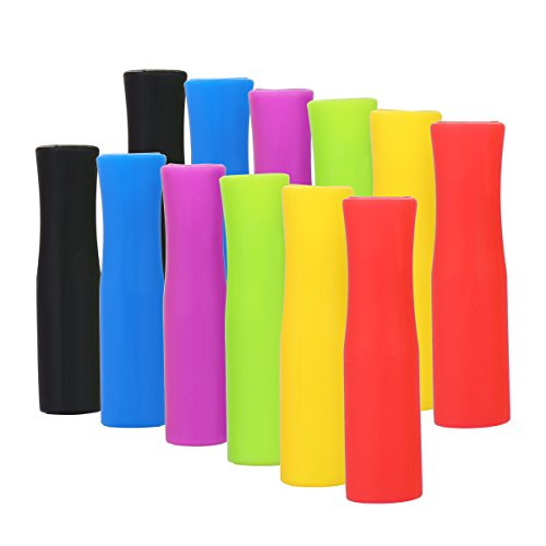 Silicone Straw Tips,Multicolored Food Grade Silicone Straw Tip Covers Fit for 8mm Wide Stainless Steel Straws And Glass Straws