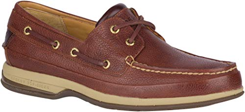 Sperry Mens Gold Boat w/ ASV Boat Shoe, Cognac, 9 (Outdoor Decks For Signs)