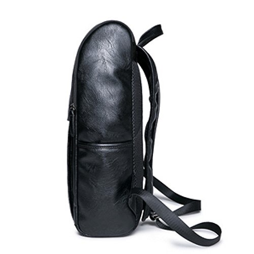 Leisure Pu Men's Student Leather Travel High Junior Fashion Backpack Shoulder Bag Black School Pangoie 5zxgTqT