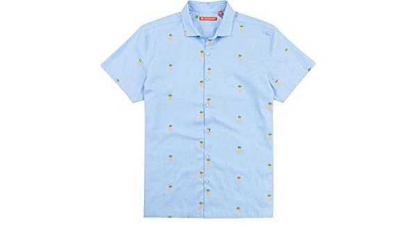 7cc42970 Tori Richard Dole N Row Camp Shirt - Blue at Amazon Men's Clothing store: