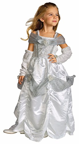 Standard Child Snow White Costumes (Rubie's Child's Snow Queen Costume, White, Medium (US 4/6))