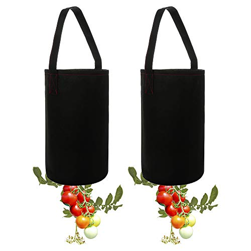 Upside-Down Tomato Planter,Tomato Fabric Planter Bag Gardening Grow Bag Planter for Home Outdoor Vegetables Flower Strawberry Tomato Planting(2 Pack) ()