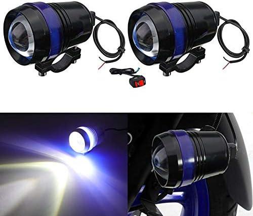 7000K Bright Motor Running Light Lamp Beam Light 1-pack TUINCYN Motorcycle LED Spotlight 30W CREE U2 U3 Spot Light with Aliminium Alloy Housing 6000K