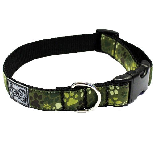 RC Pet Products 1-Inch Adjustable Dog Clip Collar, 12 to 20-Inch, Medium, Pitter Patter Camo