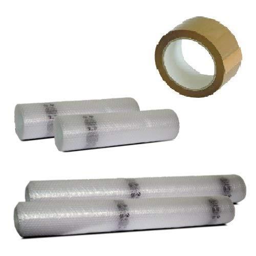 Bobine Pluriball Trasloco: 4 bobine bolle d'aria, h 1 mt x 10 metri + 2 bobine h 50 cm x 10 metri + 2 nastri fragile Simba Paper Design srl
