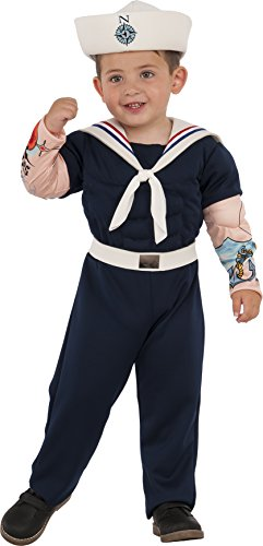 Sailor Costumes Boy (Rubies Costume Child's Muscle Man Sailor Costume, X-Small, Multicolor)