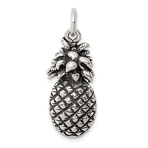 925 Sterling Silver Pineapple Pendant Charm Necklace Food Drink Fine Jewelry Gifts For Women For Her