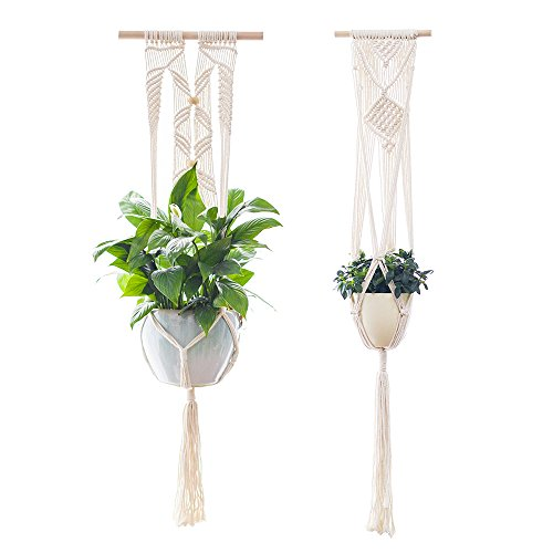 Plant Hanger,YXMYH Macrame Plant Hanger Hanging Planter Wall Art vintage-inspired 41Inch,Set of (Wall Planter Stand)