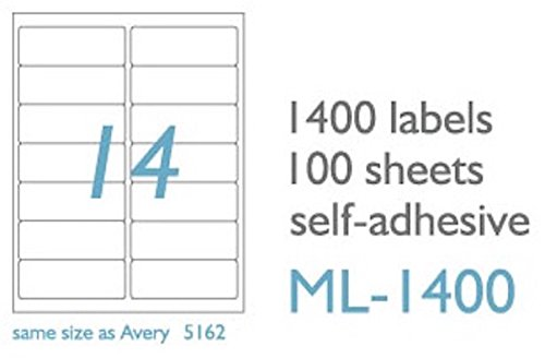maco laser  ink jet white address labels  1 3 x 4 inches