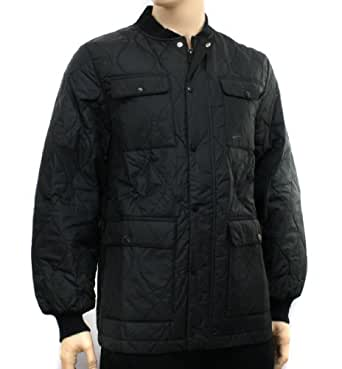 Nike Mens Black Quilted Winter Jacket, Size XL at Amazon