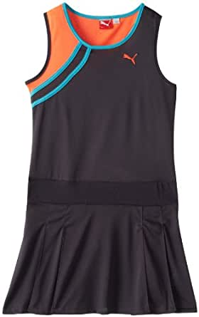 PUMA Big Girls' Colorclock Pleated Dress, Grey Cooler, Small