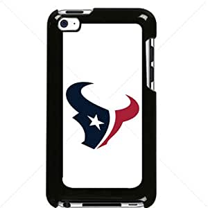 NFL American football Houston Texans Fans Apple iPod Touch iTouch 4th Generation Hard Plastic Black or White cases (Black)