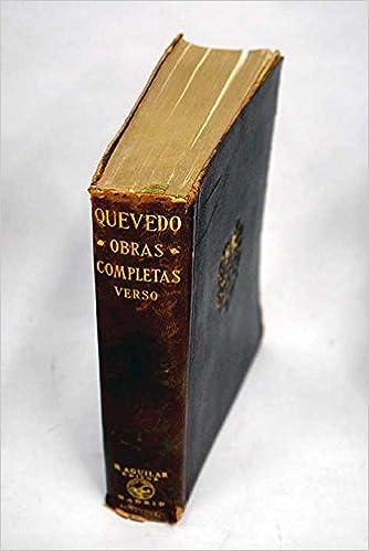 Obras Completas de Don Francisco de Quevedo en Verso: Amazon.es ...