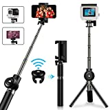 Selfie Stick Tripod, Vproof Extendable Bluetooth Selfie Stick with Detachable Wireless Remote, Compact