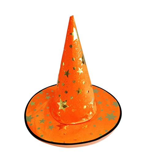 Bacekounefly Halloween Costume Hat Smile Witch Hats Accessory Holiday Masquerade Fancy Medieval Adults and Kids 1 Pack -