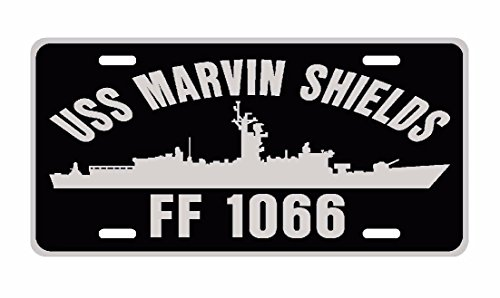 Uss Marvin Shields (USS MARVIN SHIELDS DE 1066 License Plate Aluminum USN B)