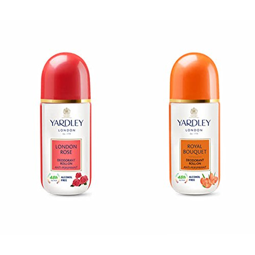 Yardley London Rose And Royal Bouquet Roll-On, Combo Of 2 ()
