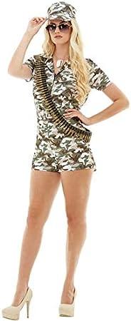 Funidelia Disfraz de Militar para Mujer: Amazon.es: Juguetes y juegos