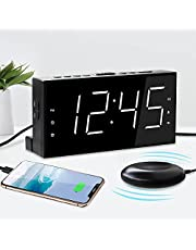 Mesqool Bed Shaker Alarm Clock with Night Light for Heavy Sleepers