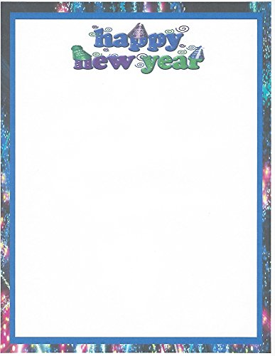 Hat Stationery (Happy New Year Hats Stationery Printer Paper 26 Sheets)