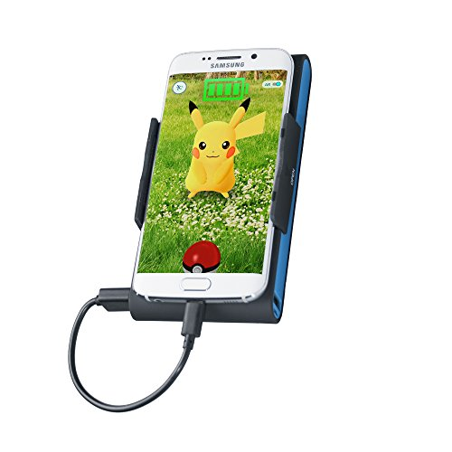 Accessories for Pokémon Go Smartphone Grip Clip 9000 mAh Battery Pack Charger for Pokémon Go/Mobile gaming/iPhone 6S Plus/Galaxy S6/More