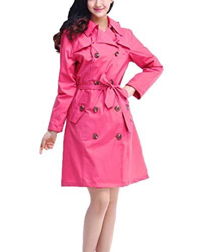 Boutonnage Tranchée Jeune Double Pour Léger Pink Manteau Anaisy Avec De Respirant Imperméable Femme Ceinture PE0Yqw8qx