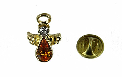6030587 November Crystal Birth Month Guardian Angel Lapel Pin Brooch Tie Tack