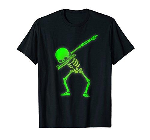 Dabbing Skeleton Faux Green Glow Halloween Costume
