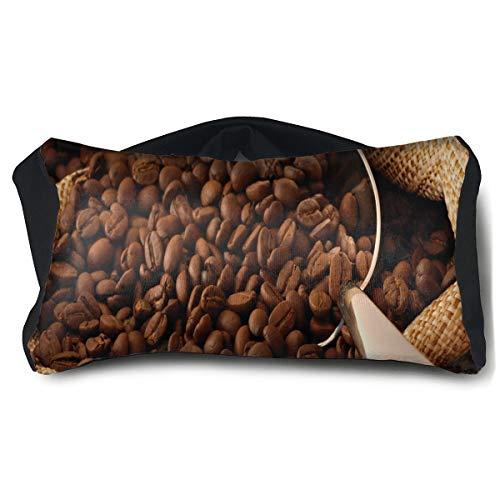 Eye Pillow Coffee and Health Inspiring Mens Portable Blindfold Train Sleep Eye Bag Mask