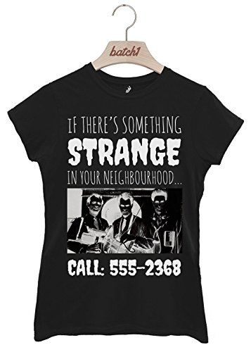 Batch1 Something Strange Ghostbusters Halloween Fancy Dress Womens T-Shirt (XX-Large, (Ghostbusters Womens Fancy Dress)