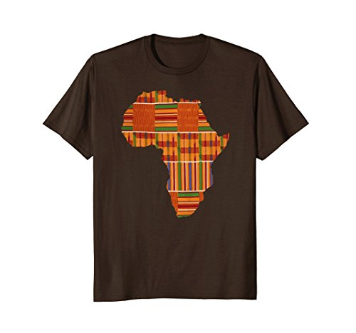 Mens AFRICA Shirt, Africa Tee, Africa T-Shirt, Map Of Africa 2XL Brown by Designs On Africa