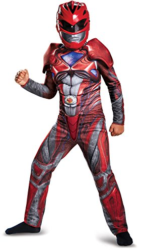 Boys Halloween Fancy Dress Costumes Power Ranger Muscle Costume (Large Image)