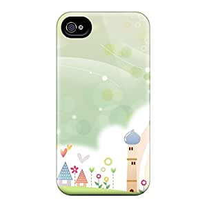 Tpu Case For Iphone 4/4s With Sweet Summer Scene