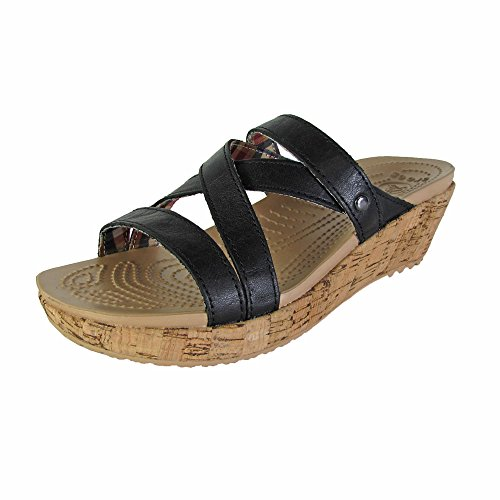 Ladies Crocs A-Leigh Mini Comfort Sandals - Black 4, Black/B