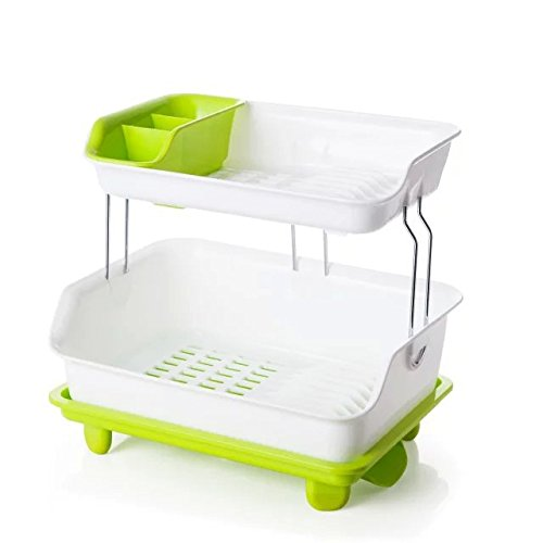 Kitchen Utensil Drying Container Dish Rack Flatware Caddy Soap Organizer Holder Bowl Drainer Detachable