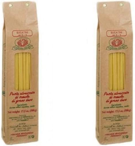 Rustichella dAbruzzo Pasta Bucatini 500g (paquete de 2): Amazon ...