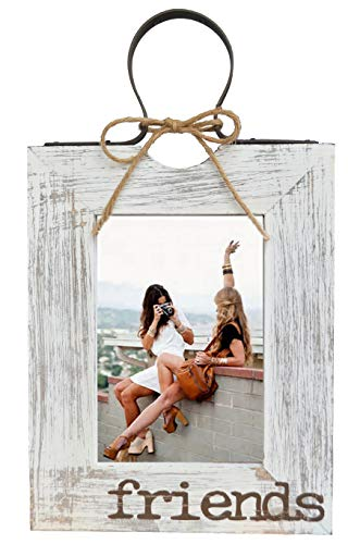 GIFTME 5 Friends Picture Frame 5x7 Wooden Photo Frames Wall Hanging or Tabletop Decorative Photo Frames (Distressed ()