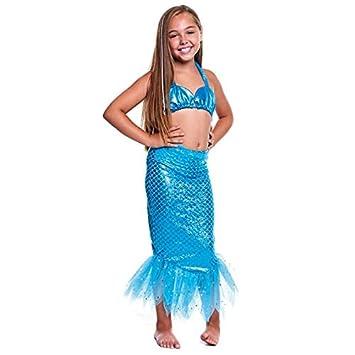 Disfraz Sirena Azul Niña (10-12 años) (+ Tallas) Carnaval ...