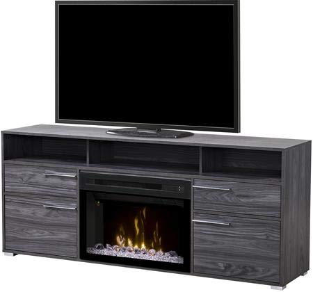 DIMPLEX Electric Fireplace, TV Stand, Media Console, Space Heater and Entertainment Center with Glass Ember Bed Set in Carbon Finish - Sander #GDS25GD-1686CW
