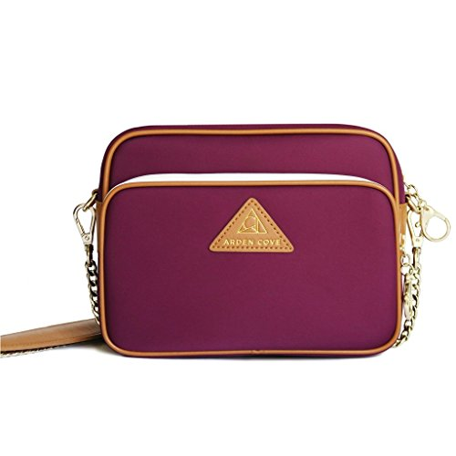 Arden Cove Full Anti-Theft Waterproof Cross-Body Bag (20'' Drop Length, Maroon) by Arden Cove