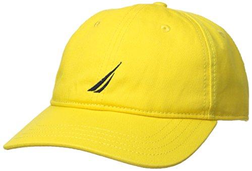 Nautica Men's Classic Logo Adjustable Baseball Cap Hat, Blazing Yellow, One Size Blazing Baseball