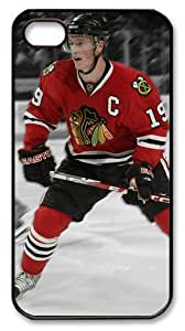 LZHCASE Personalized Protective Case for iPhone 4/4S - NHL Chicago Blackhawks #19 JONATHAN TOEWS