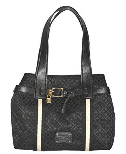 tommy-hilfiger-shopper-tote-handbag-purse-bag-black