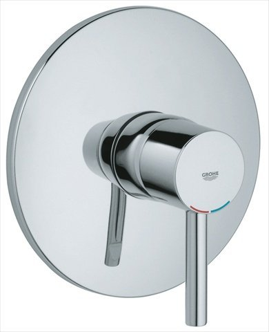 GROHE - Essence 1-Handle Grohsafe Pressure Balance Valve Trim Kit in Starlight Chrome (Valve Not Included) - Chrome